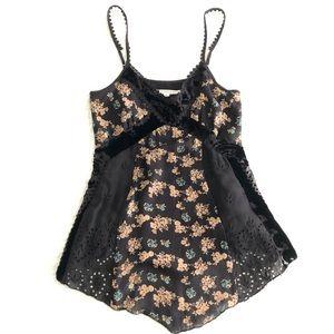 Johnny Was silk black camisole never worn size S